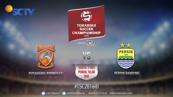 Preview dan Live Streaming Pusamania Borneo FC vs Persib ISC-TSC 2016