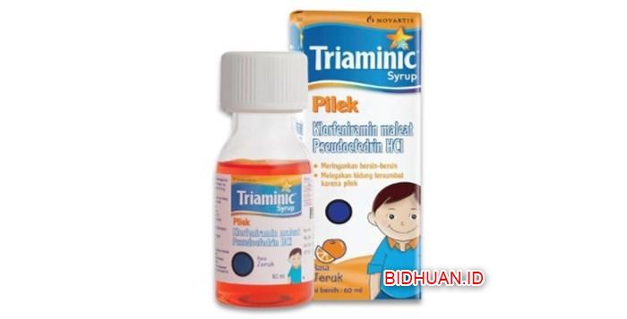 Obat Flu Triaminic Pilek yang Bagus dan Ampuh Sembuhkan Flu Anak