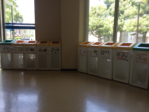 Garbage recycling system in japan