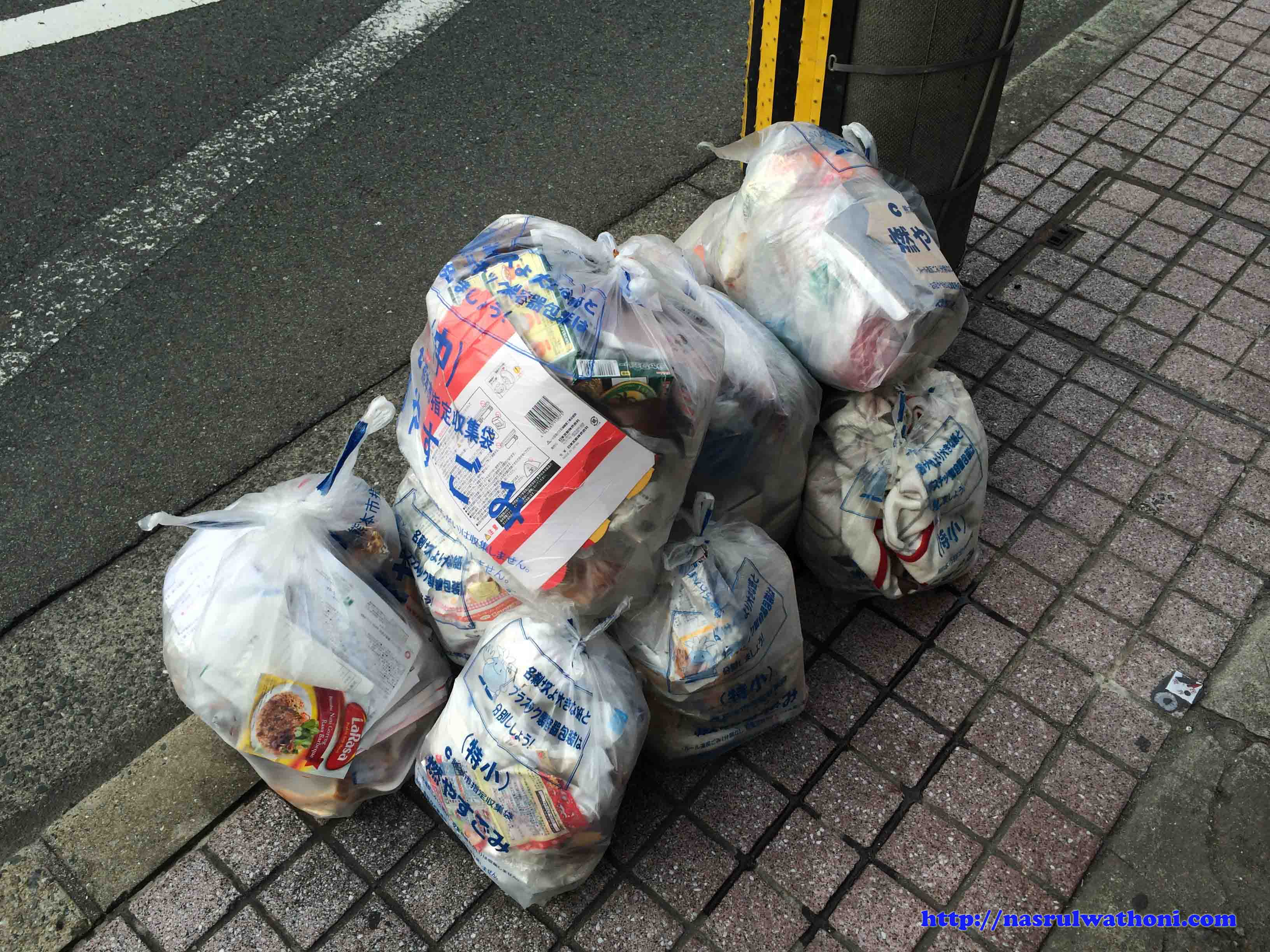 garbage in japan