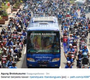 Bus persib tiba