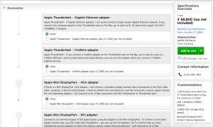 Pilih asesoris mac yang diinginkan