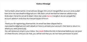 Menunggu konfirmasi email kaskus
