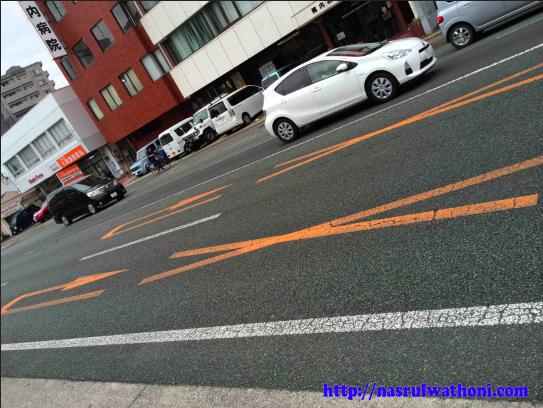 rambu lalu lintas di jalanan jepang