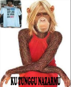 kutunggu nazar kawin dengan monyet