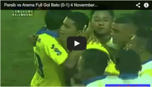 Video Pertandingan Persib vs Arema