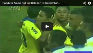 Video Pertandingan Persib vs Arema