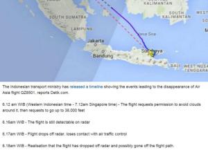 detik detik hilangnya qz8501