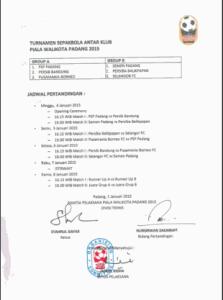 jadwal terbaru piala walikota padang