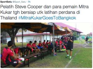 steve cooper bersiap atihan perdana di bangkok