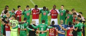 Mengheningkan cipta pemain Reims dan St. Etiene