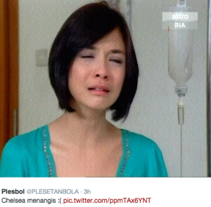 chelsea menangis