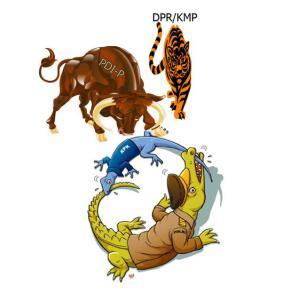 @Tude_FCB Cicak tidak hanya melayan buaya. Kini cicak pun melawan banteng dan juga macan. #saveKPK
