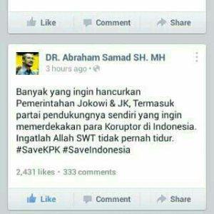 Abraham Samad berkomentar