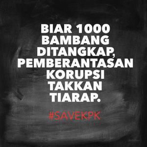 @RennyFernandez: Biar 1000 Bambang ditangkap, pemberantasan korupsi takkan tiarap!