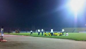 Persiapan adu penalti @Spartacks_SPFC
