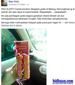 coklat isi kondom