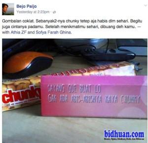 kondom isi coklat