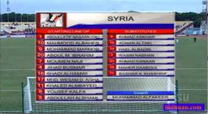 line up syria