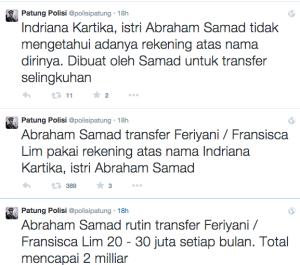 Abraham Samad dengan Feriyani Lim atau Fransisca Lim