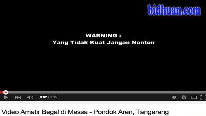 video sadis aksi begal