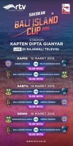 jadwal lengkap rtv bali island cup