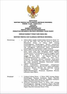 Inilah Penampakan Surat Keputusan Menpora tentang Bekukan PSSI pengenaan sanksi adminsitratif