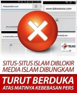 blokir situs media islam