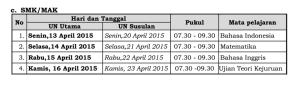 jadwal UN1