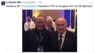 presiden fifa bersama la nyalla
