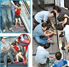 kecelakaan eskalator
