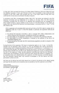 surat sanksi FIFA