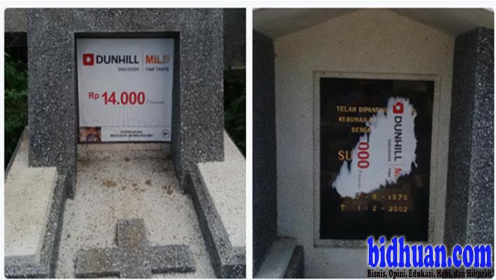 iklan rokok di batu nisan