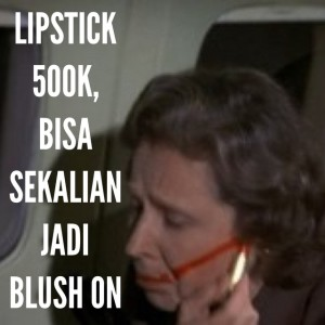 "Indi Ariani: ""Buat cowok2 yg belom tau kenapa harga lipstik bisa ada yg 500 ribu... Hahahhaha untung laki gw tau harga bedak n lipstik gw wkwkwkwk terima kasih sayang!!!"""