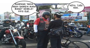 kidul tugu mas, terjemahan : selatan Tugu (Stasiun Tugu, red) Sarkem = Pasar Kembang,
