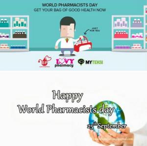 """Dian Henny: """"Selamat hari farmasi sedunia😉🙌🙌🙌 Semoga kualitas apoteker dan asisten apoteker semakin bagus"""