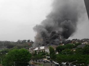 @JatengTwit 26m26 minutes ago Kebakaran hari ini di POLDA Jateng