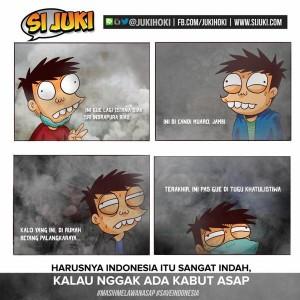 @JukiHoki Di saat wakil rakyat jalan-jalan ke amerika, gue jalan-jalan ke beberapa kota di Indonesia. #masihmelawanasap