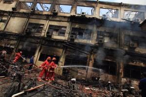 @Abuhudzaifah82: Astaghfirullah, Polda Jateng kebakaran !! Rabbi Sallim2.
