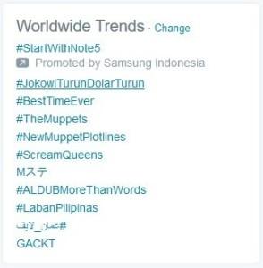 trending topik turunkan jokowi