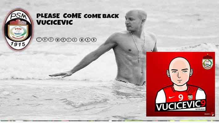 Suporter PSM Makassar Rindukan Nemanja Vucicevic