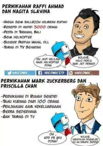 @Siye_Mr Oct 18 Penikahan RAFFI - NAGITA Vs MARK ZUCKERBERG - PRISCILLA CHAN