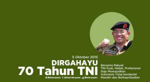 @aheryawan 2h2 hours ago Dirgahayu TNI ke 70, semoga TNI semakin kuat, hebat dan profesional..