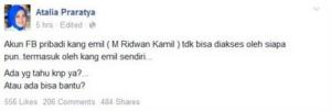 akun fb ridwan kamil di hack