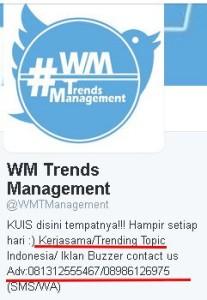 akun jasa trending
