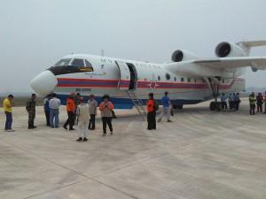 Alhamdulillah 2 pesawat B2-200 dari Rusia sudah mendarat di Palembang. Siap dioperasikan untuk water bombing di OKI.