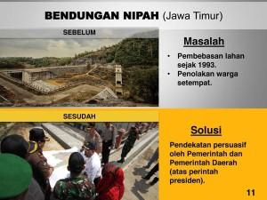(3) Proyek mangkrak yang diuraikan dan diresmikan oleh Presiden Joko Widodo