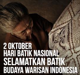 @AksDalbo : tunjukan pada dunia bahwa sebenarnya kita mampu, biarkan indonesia tanpa koran . Selamat Hari Batik Nasional