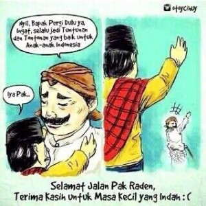 @BaliUtd 4h4 hours ago Selamat jalan dan terimakasih buat karya Pak Raden untuk Indonesia #PakRaden