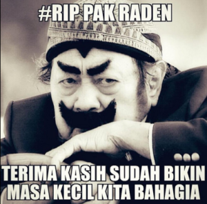 @pemulihanjiwa 48m48 minutes ago Selamat jalan Pak Raden, we miss you so much